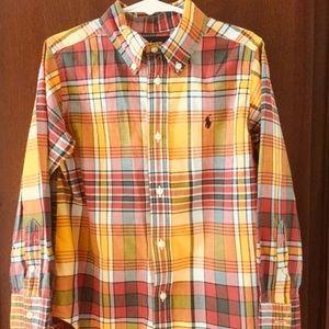 Boys Ralph Lauren Button Down Autumn Plaid Shirt